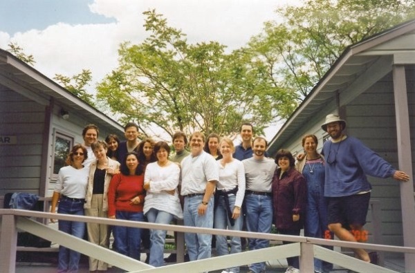 Rosanne's Essence of Songwriting class in 2000. John Leventhal took this. Some of the people in the photo, from left to right: me, Barney Miller, Anne Carley, Denise Moser, Bob Dawson, Patty Ocfemia, Mimi Cross, Rosanne Cash, Barbara Blaisdell, Suzanne Jackson Henry, Steve Kunzman and Reisa Conde.