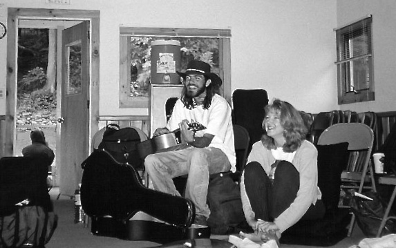 Stephen Kellogg and Suzanne Henry at Rosane Cash's workship 1997